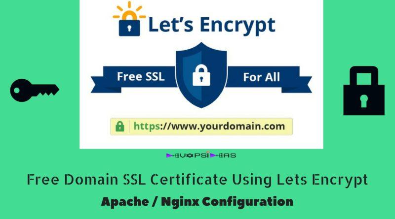 Free Domain SSL Certificate Using Lets Encrypt