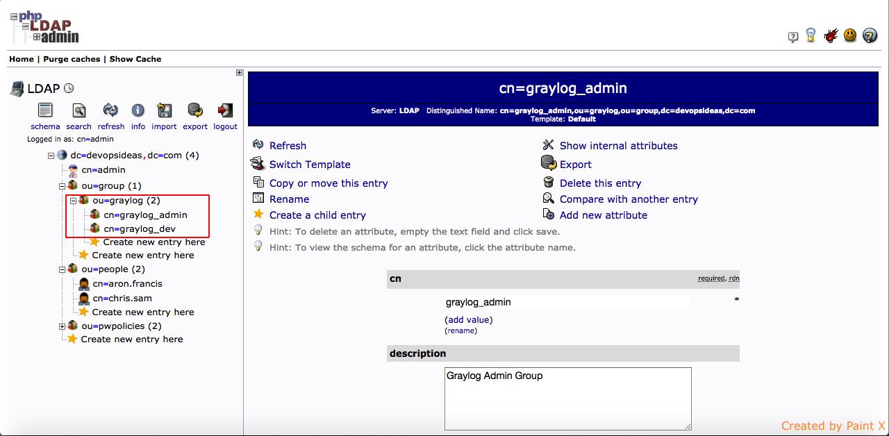 Graylog LDAP group - 1